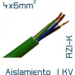 Manguera cable 4x6 mm2 libre halógenos RZ1-K. Mod. LH4X6