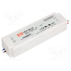 Alimentador por impulso LED 102W 12VCC 8,5A 90÷264VCA IP67. Mod. LPV-100-12