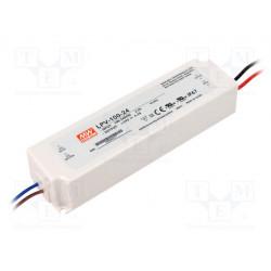 Alimentador por impulso LED 100,8W 24VCC 4,2A 90÷264VCA IP67. Mod. LPV-100-24