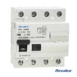 Interruptor diferencial 4P 40A 300 mA. Mod. RV31 AC440300