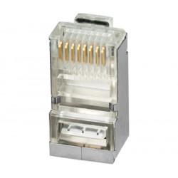 Conector modular RJ45 para datos FTP Cat.5e BLINDADO