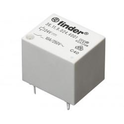 Relé miniatura tipo DADO 12Vcc 1Cto. 10A