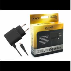 Cargador Micro USB UltraSpeed 2.1A negro Biwond. Mod. 50580