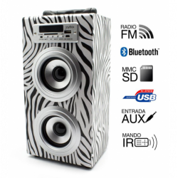 Torre música reproductor USB Bluethooth zebra Joybox. Mod. 50603