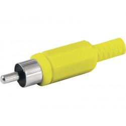 Conectores RCA macho con protector de cable