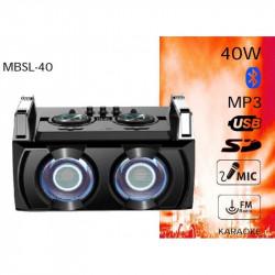 Subwoofer 40W BSL con Karaoke. MOD. MBSL-40