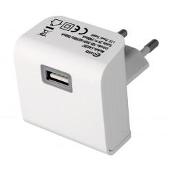 Cargador Alimentador 100-240Vca / USB 5Vcc-2100mA. Mod. CAR207