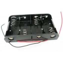 Portapilas para 4xR14 tipo C con cable  2528