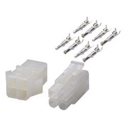 Conectores multipolares (macho y hembra) de alimentación para terminales crimpables. Nº de Contactos: 2 Mod. 2100/-2A