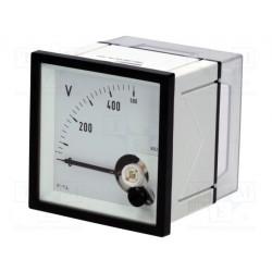 Medidor de panel de tensión CA analógico 0÷500V True RMS. Mod. EQN72-500V