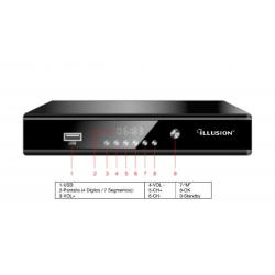 Receptor satélite HD Illusion. Mod. RCP-ILLSA1500
