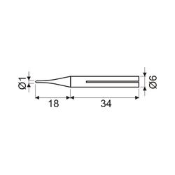 Punto soldador eléctrico larga duración 1 mm. Mod. 03.047/12/PLD