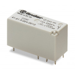Mini-Relé de bajo perfil 24Vcc  2Cto. 8A