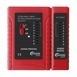 Tester de conexiones modulares tipo RJ TES010