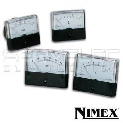 Amperímetro de panel DC 0 - 15A  70x60 NIMEX. Mod. NI-670