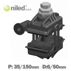 Conector aéreo perforación cable trenzado NILED 35/150-6/50. Mod.  P-50 1416.0400