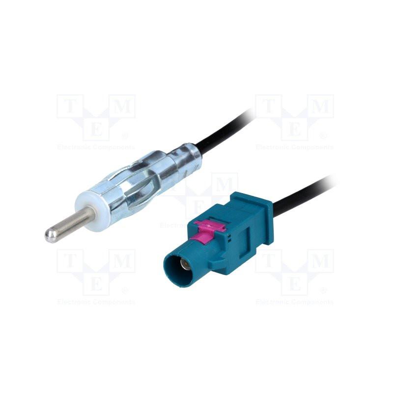 1 adaptador de antena conector auto radio ISO-DIN de VW Opel a Panasonic Sony