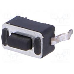 Microconmutador tacto SPST-NO pines 2 0,05A/12VDC THT. Mod. TACT-34N-F