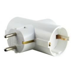 Adaptador de 3 tomas c/TT 16A 250V. Mod. 36.053/1