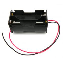 Portapilas para 4xR6, Cable. Mod. 2368