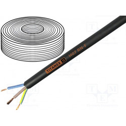 Cable H07RN-F Cu 3G1,5mm2 goma negro 450/750V Clase:5. Mod. TITANEX3X1.5
