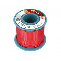 Cable rígido 0,5mm/25mts Rojo cobre estañado