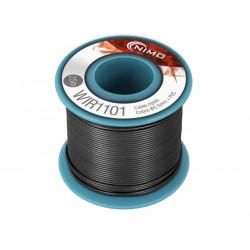 Cable rígido 0,5mm/25mts Negro cobre estañado