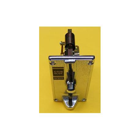 Selector mecánico monedas de 1€. Carátula metal. CEBEK. Mod. C-5250