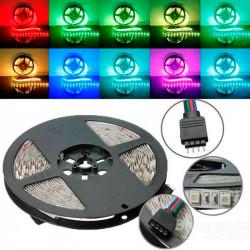 Tira de led 24v flexible 5 metros SMD 5050 60 led / m RGB IP20. 5050RGB24V