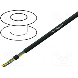 Manguera Cu 3x0,75mm2 goma negro 300/500V Clase:5. Mod. H05RN-F-3G0.75
