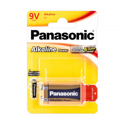 Pila Alcalina Panasonic 6LR61, Block 9V
