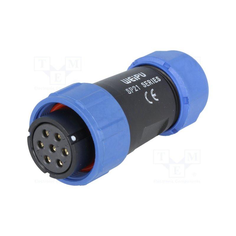 12pin Enchufe de aviaci/ón impermeable Conector del cable Conector del enchufe y del z/ócalo Conectores el/éctricos auto 3pin SP21 IP68 2//3//4//5//7//9
