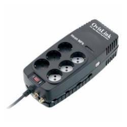 Regulador de voltaje NEON 1200VA/600W 6 schuko Ovislink. Mod. NEON1200MP6