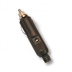 CONECTOR MECHERO MACHO AEREO CON LED Y FUSIBLE. Mod. 41-75690