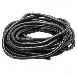 Cinta espiral helicoidal 12 mm color natural. Organizador de cables. Venta por metro. Mod. CH-9005