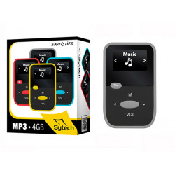 Reproductor Mp3 4gb negro gris Sytech. Mod. SY-7316