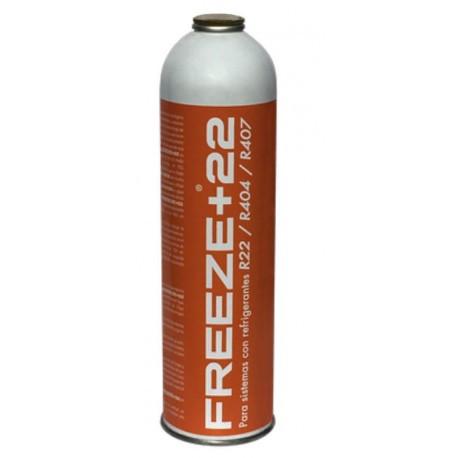 Botella gas refrigerante orgánico R22 R404 R407. Mod. FREEZE+22