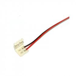 Conector para Tira de LED Monocromo 8mm + cable con puntas prestañeadas. Mod. CON8MONP