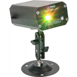 Laser mini Party Light Sound Gobo 120mW. MOD. PARTY-GOBOLASER