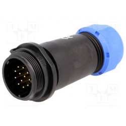 Enchufe macho SP21 PIN:12 IP68 7÷12mm para soldar 400V 5A. Mod. SP211/P12