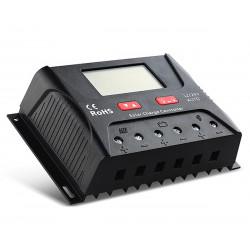 Regulador solar de carga 12V / 24V auto PWM 30A. Mod. HP2430