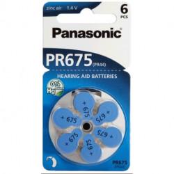 Pila audifono 1.4V Panasonic - Precio 6 UNIDADES. Mod. PR675 PR44