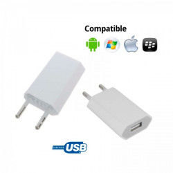 CARGADOR CORRIENTE USB RED DE PARED UNIVERSAL PARA MOVIL SMARTPHONE BLANCO 5V 1A. Mod. TR-USB1A