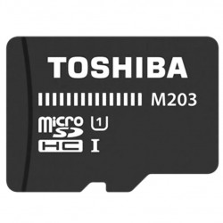 Tarjeta microSD HC Toshiba 32 GB c/ adaptador class 10. Mod. M203K0320EA