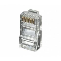 Conector modular RJ45 8P/8C UTP Cat.6 de 3 micras oro  CON919