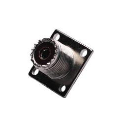 Conector PL hembra fijación a tornillo (SO-239). Mod. 1322