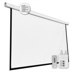 "Pantalla electrica videoproyector pared y techo Phoenix 135"" 2.4m x 2.4m. Mod. PHPANTALLA-ELEC240"