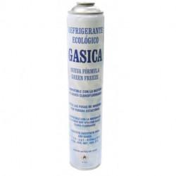 Gas Refrigerante Gasica 435 gr envase 750ml Para sistemas con R134a R12 100% orgánico. Mod. 16UN810