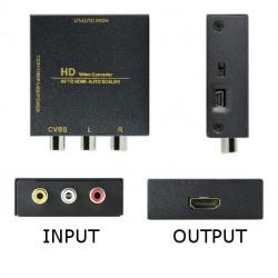 CONVERTIDOR AV 3 RCA A HDMI. Mod. TV20-00015