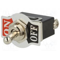 Conmutador de palanca TSP104AA1 SPST  (ON)-OFF 10A/250VAC